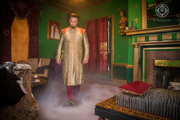 Baron Ambrosia Walking in Smoke towards his bed of nails